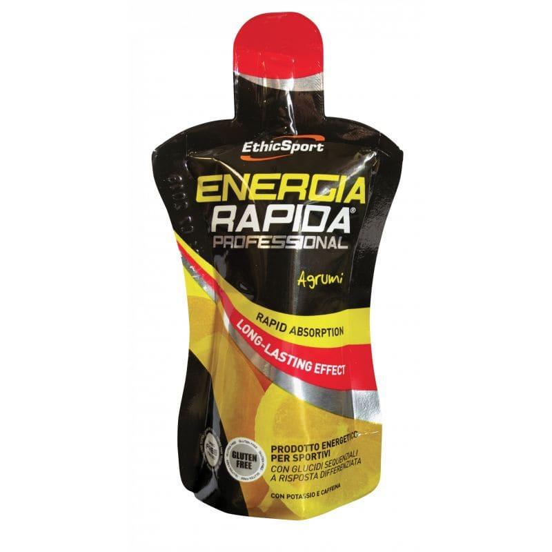 Ethicsport Energia Rapida Proffesional Citrus Ενεργειακό Τζελ Υδατανθράκων με καφεΐνη, γεύση λεμόνι, 50ml