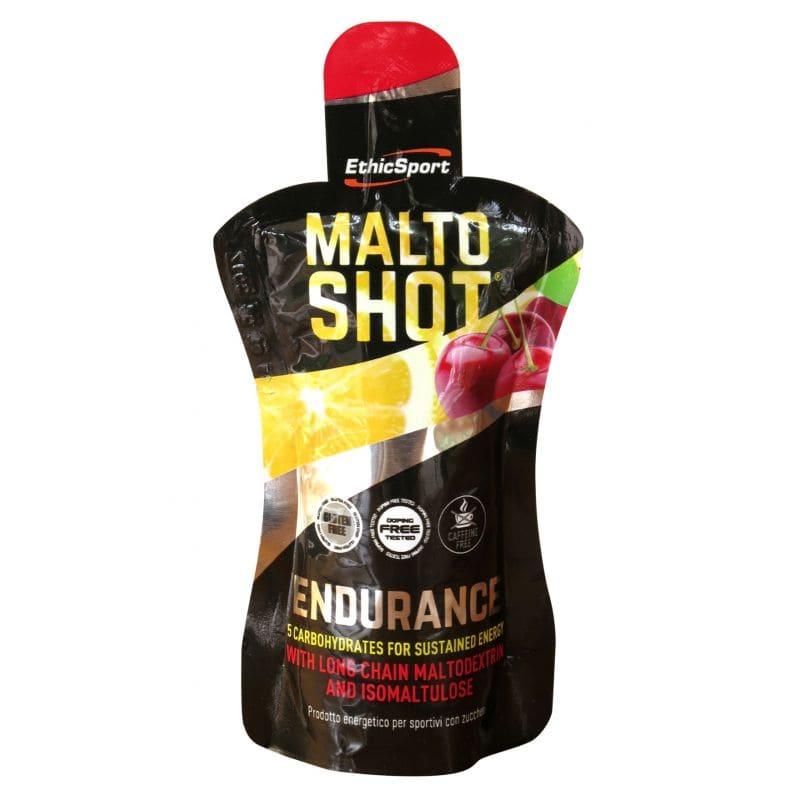 Ethicsport Maltoshot Endurance Συμπλήρωμα Αθλητικής Διατροφής με 5 Υδατάνθρακες, γεύση κεράσι - λεμόνι, 50ml