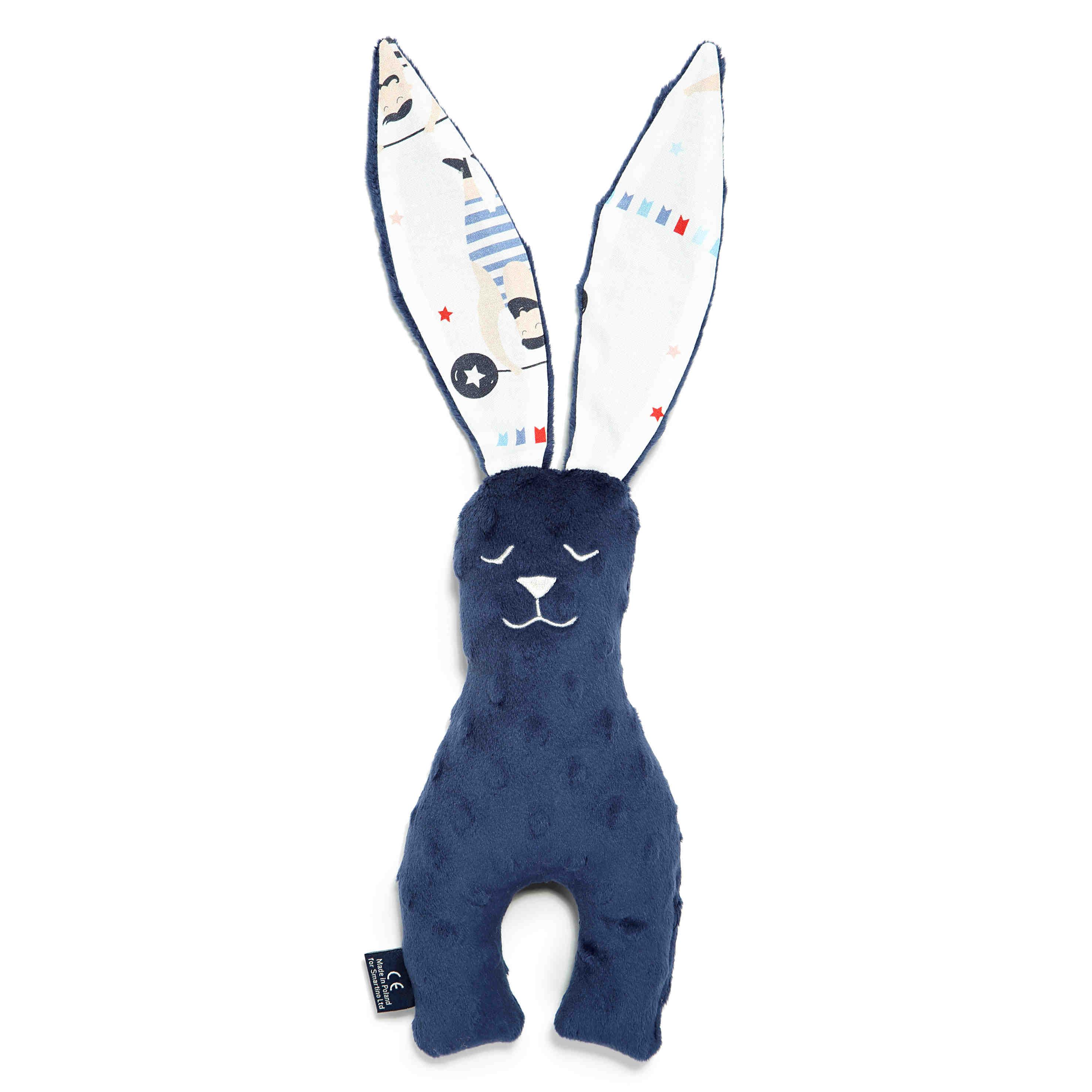 64693cf83f6 La Millou Small Bunny Navy Circus Strongmen Υφασμάτινο Παιχνίδι Λαγουδάκι,  1 τεμάχιο