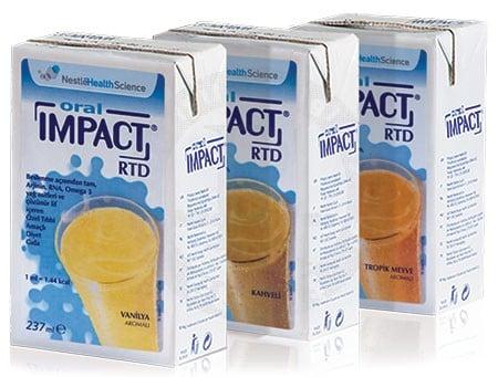 Cana Oral Impact RTD Υπερθερμιδικό & Υπερπρωτεϊνικό Συμπλήρωμα Ανοσοδιατροφής σε υγρή μορφή, με γεύση βανίλια, 237ml