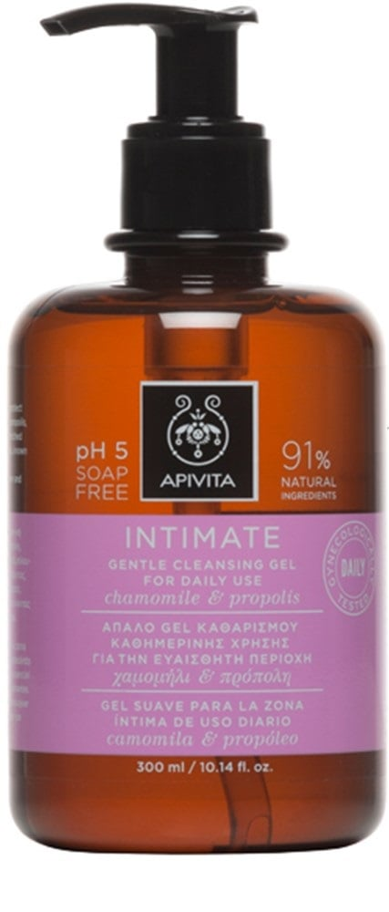 Apivita Intimate Care Gentle Cleansing Gel for the Intimate Area for Daily Use - SMART PACK, 300ml