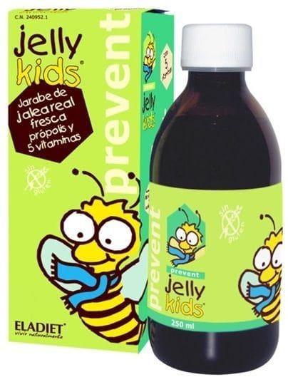 Eladiet Jelly Kids Prevent Παιδικό Σιρόπι Βασιλικού Πολτού για Τόνωση & Ενέργεια, με γεύση φράουλα, 250ml
