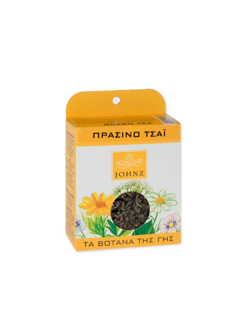 JOHNZ Green Tea Πράσινο Τσάϊ με Αντιοξειδωτικές και διουρητικές Ιδιότητες, 30gr