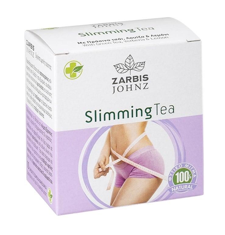 JOHNZ Slimming Tea Αδυνατιστικό τσάι με πράσινο τσάι και Λουΐζα, 10 εμβαζόμενα φακελάκια
