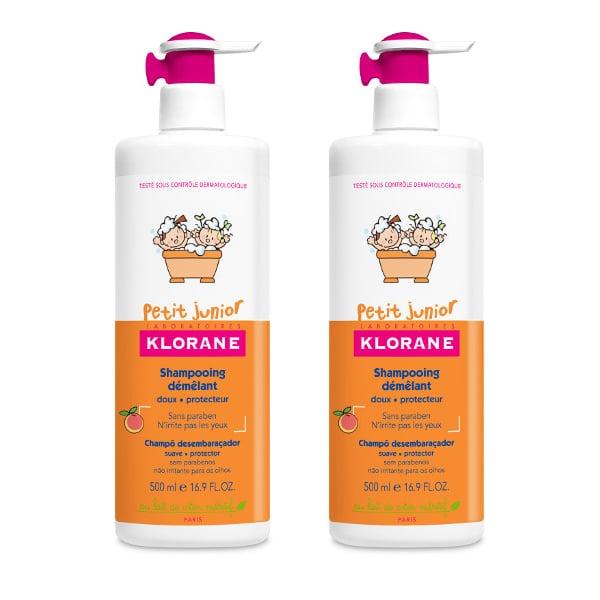 2 x Klorane Petit Junior Shampoo with Peach Fragrance Υποαλλεργικό Σαμπουάν, -50% ΤΟ ΔΕΥΤΕΡΟ ΠΡΟΪΟΝ, με Άρωμα Ροδάκινο, 2 x 500 ml
