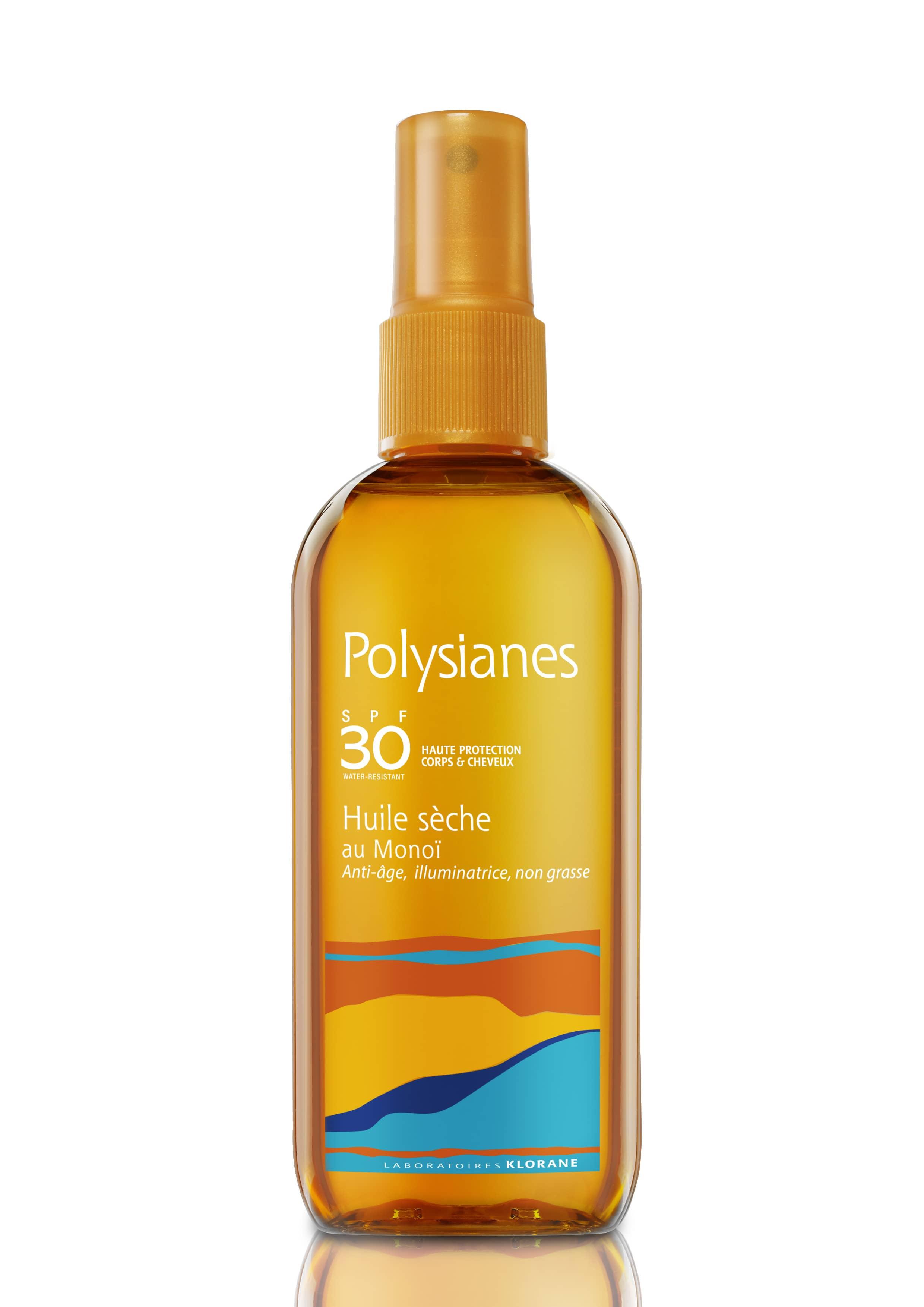 Polysianes Huile Sèche SPF30 Αντιηλιακό Λάδι Προσώπου & Σώματος με εκχύλισμα Monoi, 150ml