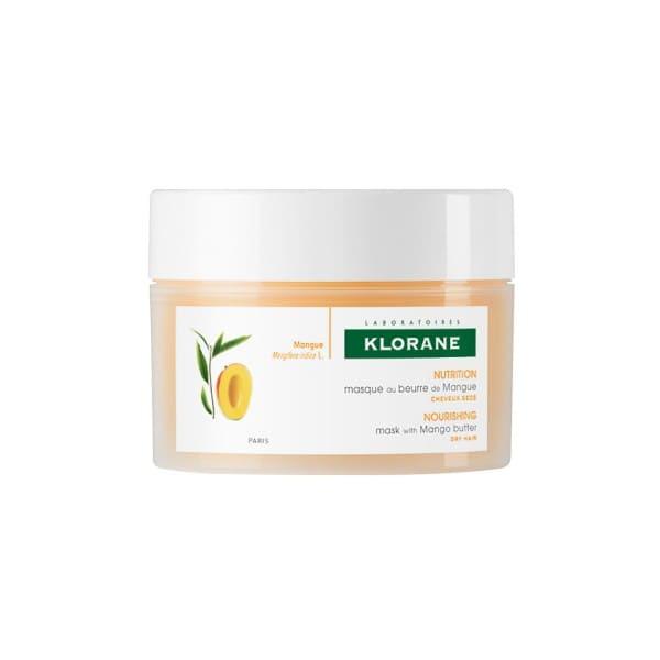 Klorane Mango Hair Mask Επανορθωτική Μάσκα Μαλλιών με βούτυρο Μάνγκο, 150ml