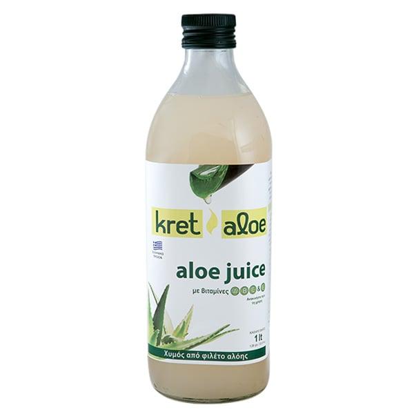 Kretaloe Aloe Juice Χυμός Αλόης με βιταμίνες A, B, C & E, 1L