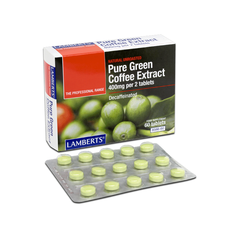 Lamberts Pure Green Coffee Extract, A decaffeinated extract from fresh coffee beans, 60tabs