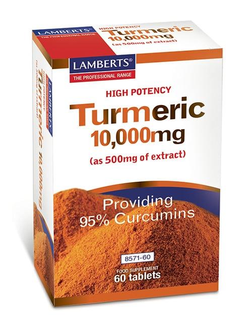 Lamberts Turmeric 10.000mg Συμπλήρωμα Διατροφής με Κουρκουμά, 60 tabs