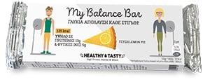 Power Health My Balance Bar Lemon Pie Γλυκιά Πρωτεϊνική Μπάρα, με γεύση Λεμονόπιτας, 35gr
