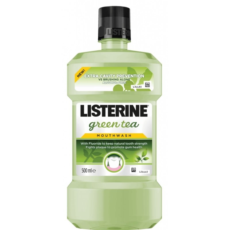 Listerine Green Tea Cavity Protection Στοματικό Διάλυμα με πράσινο τσάι, 500ml