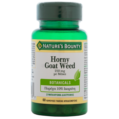 Nature's Bounty Horny Goat Weed 250mg Συμπλήρωμα με Εκχύλισμα από το βότανο Horny Goat & Μάκα, 60caps