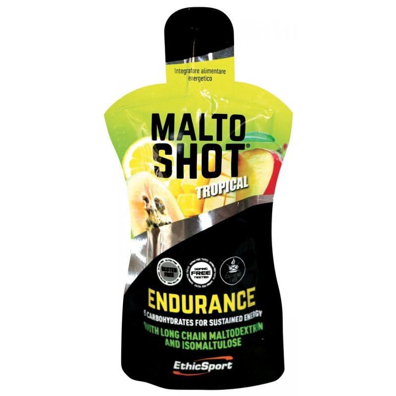 Ethicsport Maltoshot Endurance Tropical Συμπλήρωμα Αθλητικής Διατροφής με 5 Υδατάνθρακες, τροπική γεύση, 50ml