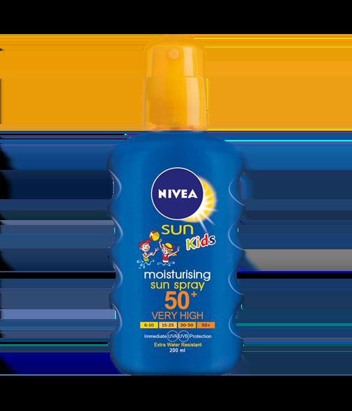 Nivea Sun Κids Moisturing Colour Spray SPF50+(-2€ ΣΤΗΝ ΑΡΧΙΚΗ ΤΙΜΗ) Αντιηλιακό Σπρέι για Παιδιά, 200ml