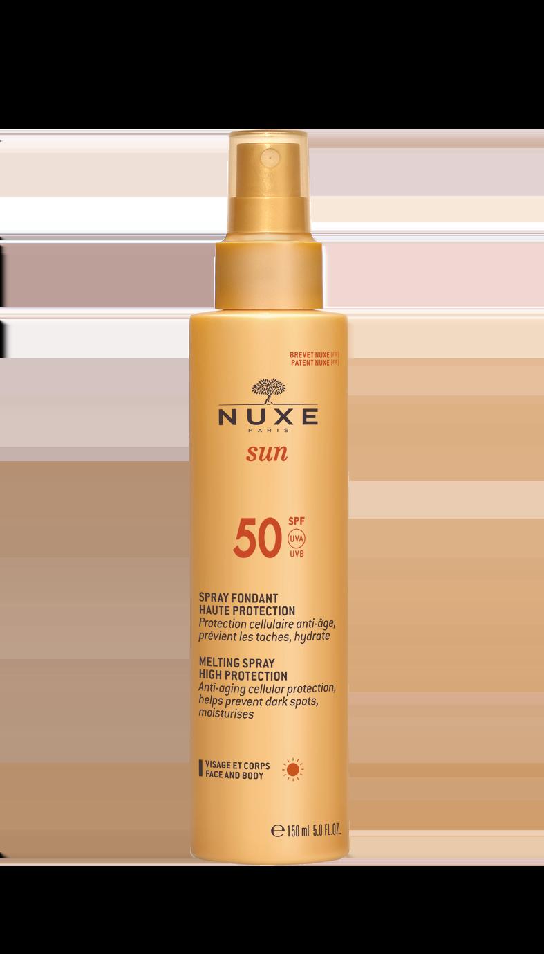 Nuxe Sun Milky Spray SPF50 Αντηλιακό Γαλάκτωμα για πρόσωπο & σώμα, 150ml