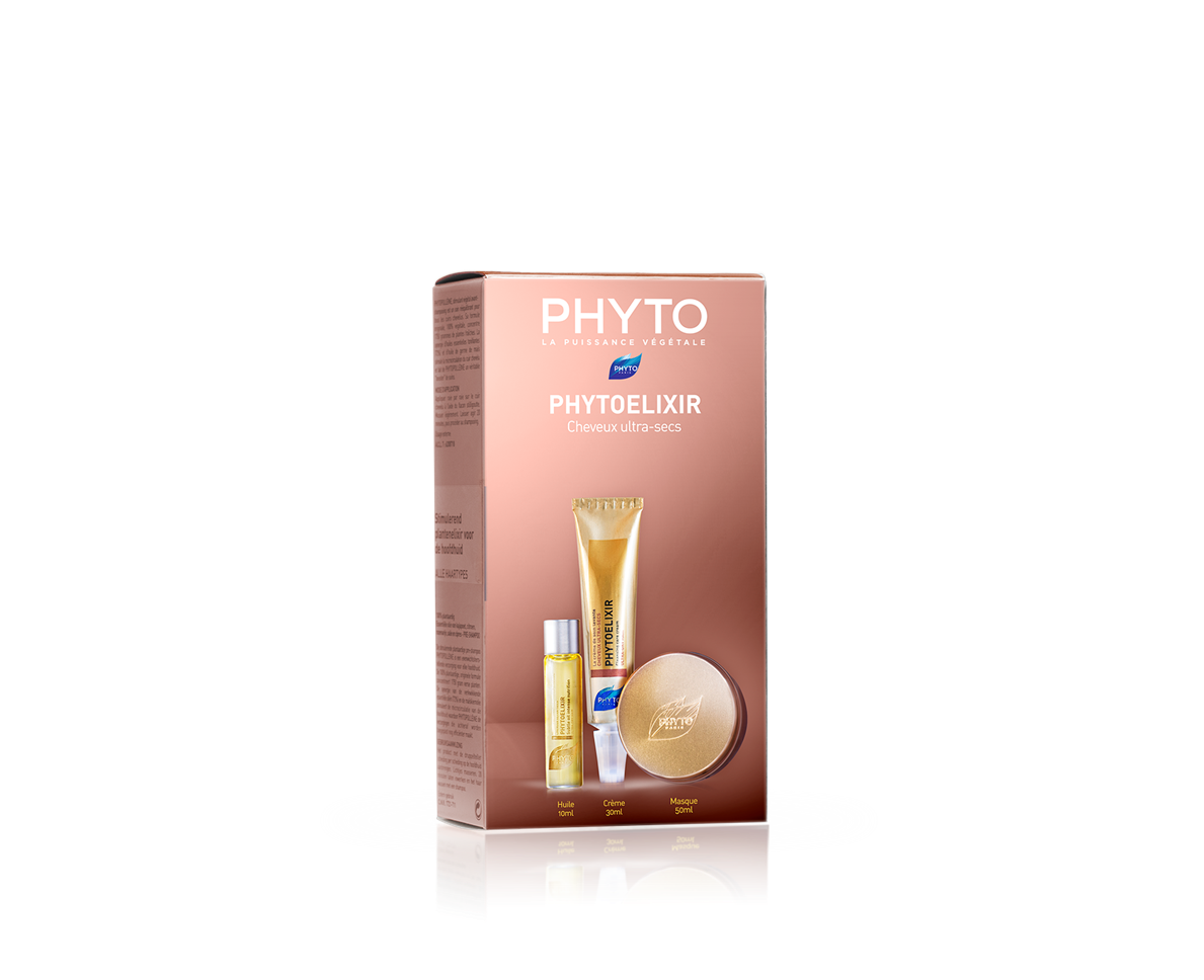 Phyto Phytoelixir Travel Kit με Λεπτό Έλαιο Εντατικής Θρέψης, 10ml, Μάσκα Εντατικής Θρέψης, 50ml & Καθαριστική Κρέμα Περιποίησης, 30ml