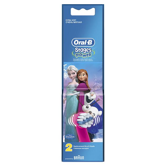 OralB Stages Power Kids Frozen Ανταλλακτικά Παιδικής Ηλεκτρικής Οδοντόβουρτσας, 2 τεμάχια