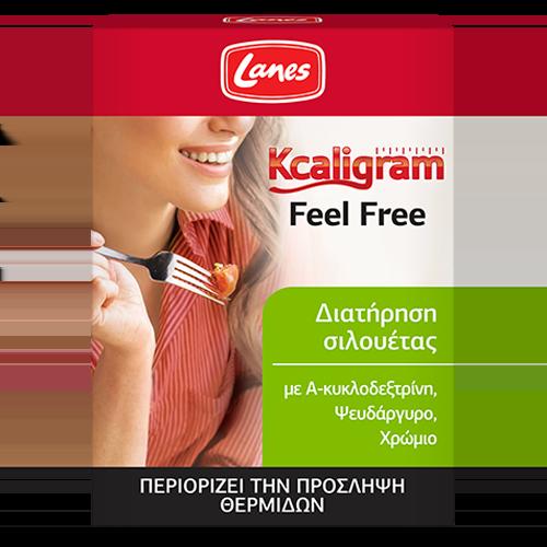 Lanes Kcaligram Feel Free Συμπλήρωμα διατροφής για τον έλεγχο βάρους,16 δισκία