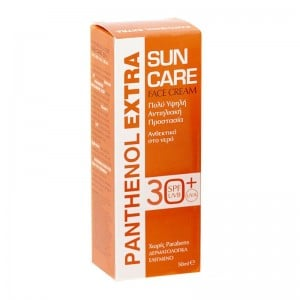 Panthenol Extra Sun Care Face Cream SPF30 Υψηλή Αντιηλιακή Προστασία Προσώπου, 50ml