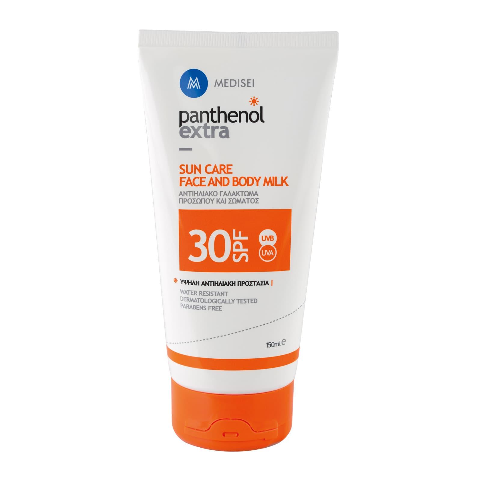 Panthenol Extra Sun Care Face & Body Milk SPF30 Αντιηλιακό Γαλάκτωμα για πρόσωπο & σώμα, 150ml