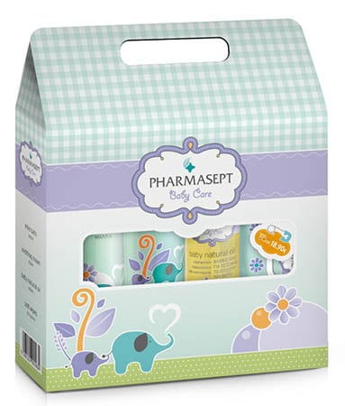 Pharmasept Tol Velvet Baby Care Τσαντάκι με Baby Mild Bath, 300ml & ΜΑΖΙ Baby Soothing Cream, 150ml & ΜΑΖΙ Baby Natural Oil, 100ml & MAZI Baby Care Soft Wipes, 30 τμχ