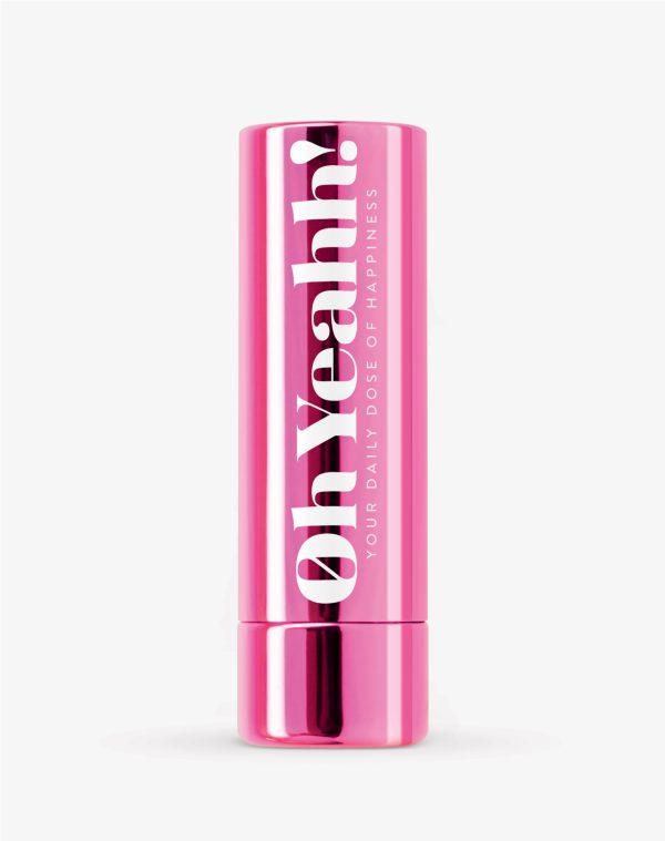 Oh Yeahh! Happy Lip Balm Pink SPF15 Ενυδατικό balm χειλιών που βοηθά παράλληλα στην αύξηση της καλής διάθεσης, απόχρωση Pink, 4.2gr