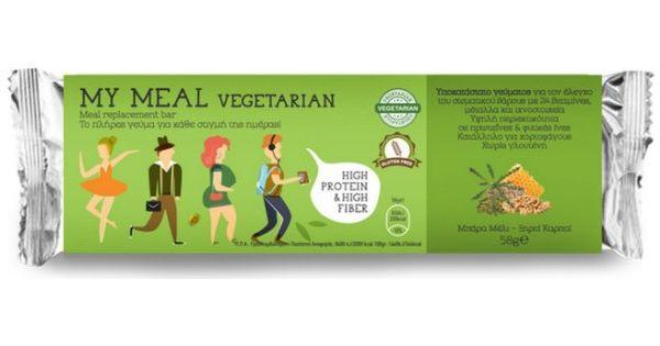 Power Health My Meal Vegetarian Μπάρα Υποκατάστατο Γεύματος Μέλι - Ξηροί καρποί, 58gr
