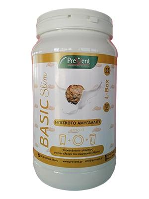 Prevent Basic Slim L- Box Μπισκότο Αμυγδάλου Υποκατάστατο Γεύματος για τον έλεγχο του σωματικού βάρους, 581gr