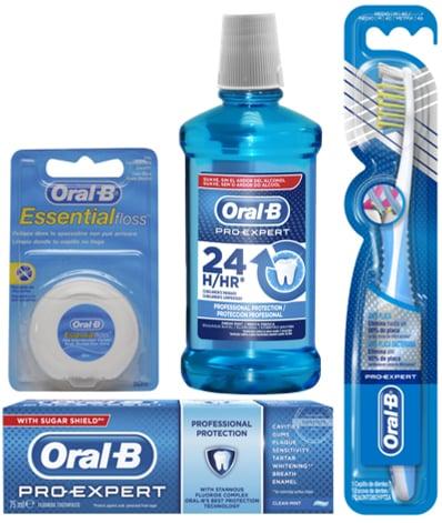 OralB Σύστημα Professional Protection Ολοκληρωμένο Σύστημα Στοματικής Προστασίας με Οδοντόβουρτσα Medium, 1 τεμάχιο, Στοματικό Διάλυμα 24ωρης Προστασίας, 500ml, Οδοντόκρεμα, 75ml & Οδοντικό Κηρωμένο Νήμα, 50m