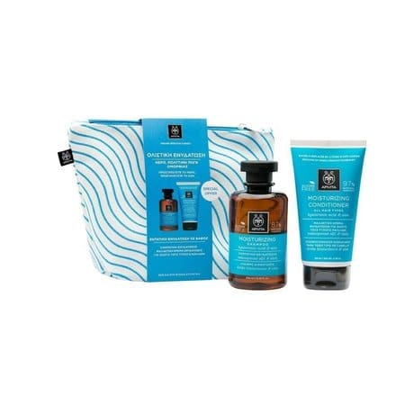 Apivita PROMO Moisturizing Shampoo  & Moisturizing Conditioner, 50ml