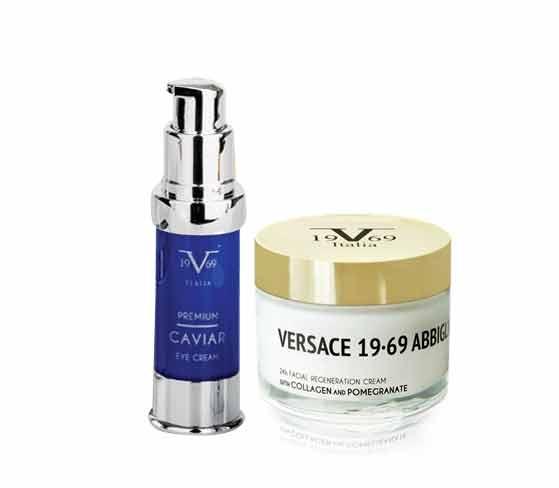 Versace Promo Pack με Italia Cream Collagen & Pomegranate 24h, 50ml & ΜΑΖΙ Caviar Eye Cream Αντιρυτιδική Κρέμα Ματιών, 15ml