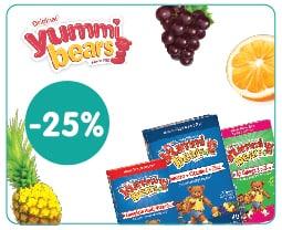 """Εικόνα του """"Hero Yummi Bears, συμπλήρωμα διατροφής για παιδιά με γεύση φρούτων -25%"""""""