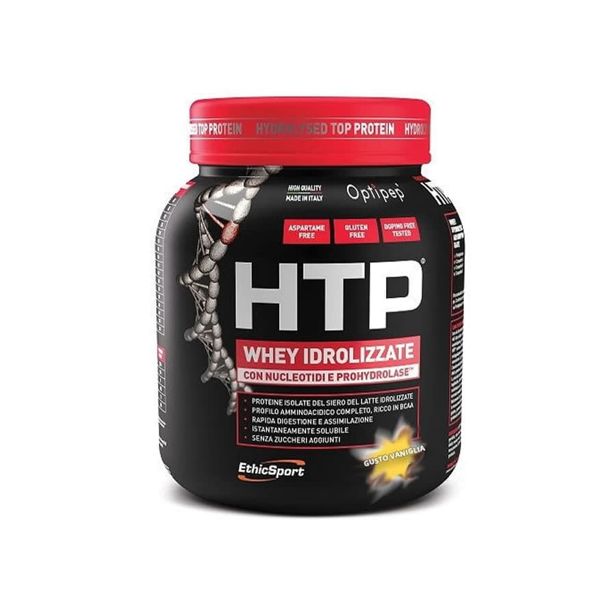 Ethicsport Protein HTP Vanilla Υδρολυμένη Πρωτεΐνη ορού γάλακτος, με γεύση βανίλια, 750gr