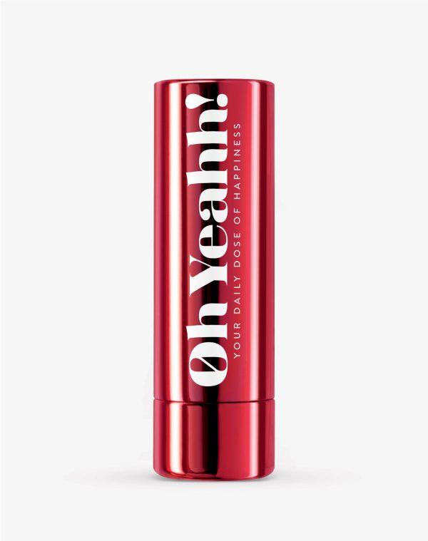 Oh Yeahh! Happy Lip Balm Red SPF15 Ενυδατικό balm χειλιών που βοηθά παράλληλα στην αύξηση της καλής διάθεσης, απόχρωση Red, 4.2gr