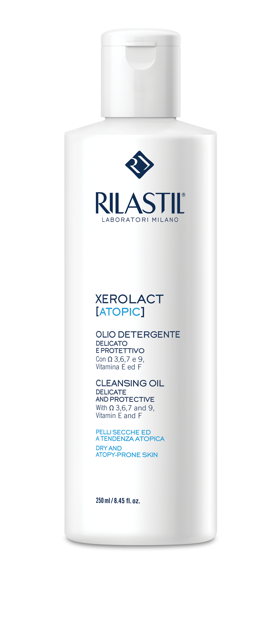Rilastil Xerolact Atopic Cleansing Oil For the dry, very dry and atopy-prone skin of babies, children and adults, 250ml