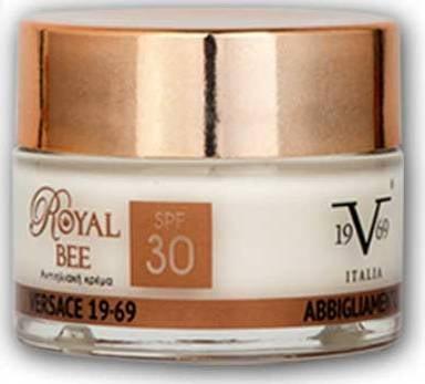 Vercace 19V69 Royal Bee Cream SPF30 Αντιηλιακή Κρέμα με Βασιλικό Πολτό & αντιγηραντικούς παράγοντες, 50ml