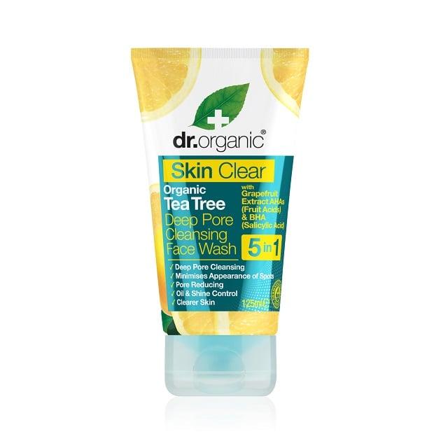 Dr. Organic Skin Clear Organic Tea Tree Deep Pore Cleansing Face Wash Καθαριστικό Προσώπου για Λιπαρές Επιδερμίδες, 125ml