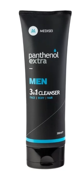 Panthenol Extra Men 3 in1 Cleanser Face Body Hair Ανδρικό Αφρόλουτρο - Σαμπουάν, 200ml
