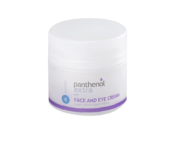 Panthenol Extra Face & Eye Cream 24ωρη Αντιρυτιδική Κρέμα με Υαλουρονικό Οξύ για Πρόσωπο & Μάτια, 50ml