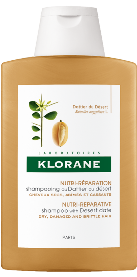 Klorane Desert Date Shampoo Σαμπουάν με Χουρμά της Ερήμου, για θρέψη & αναδόμηση των ξηρών, ταλαιπωρημένων & εύθραυστων μαλλιών, 400ml