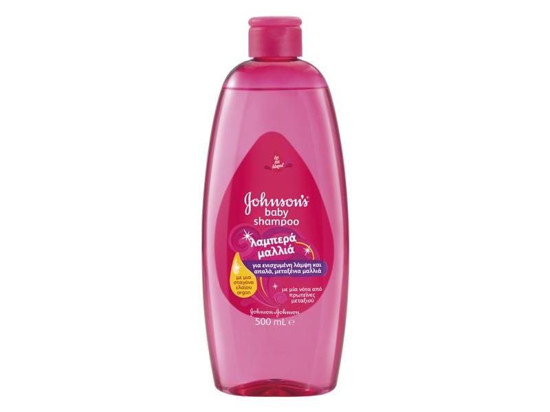 Johnson's Baby Shampoo Λαμπερά Μαλλιά, 500ml