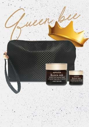 Apivita Queen Bee, holistic antiaging & tightening up to -35% & with offer packs!