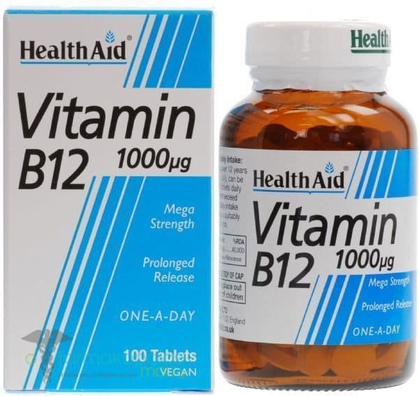 Health Aid Vitamin B12 1000mg, 100 tabs