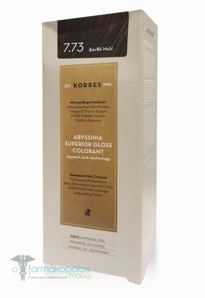 Korres Abyssinia Superior Gloss Colorant Μόνιμη Βαφή Μαλλιών No 7.73 ... 8401ab41d16