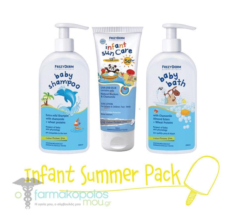 Frezyderm Infant Summer Pack με Infant Sun Care SPF50 Παιδικό Αντηλιακό  Γαλάκτωμα Προσώπου  amp  Σώματος. ΜΕΓΕΘΥΝΣΗ fcc3a8cccd5