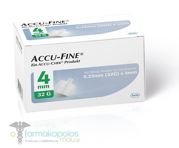 Accu chek Accu-Fine 0 23mm (32G) x 4mm Sterile Insulin Pen Needles, 100pc