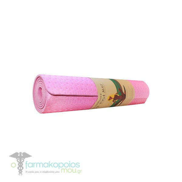 Kiwi Eva Yoga Mat Eco Friendly Strwma Yoga Pilates Anoixto Roz 8mm 61x1 73cm 1 Temaxio Ofarmakopoiosmou Gr