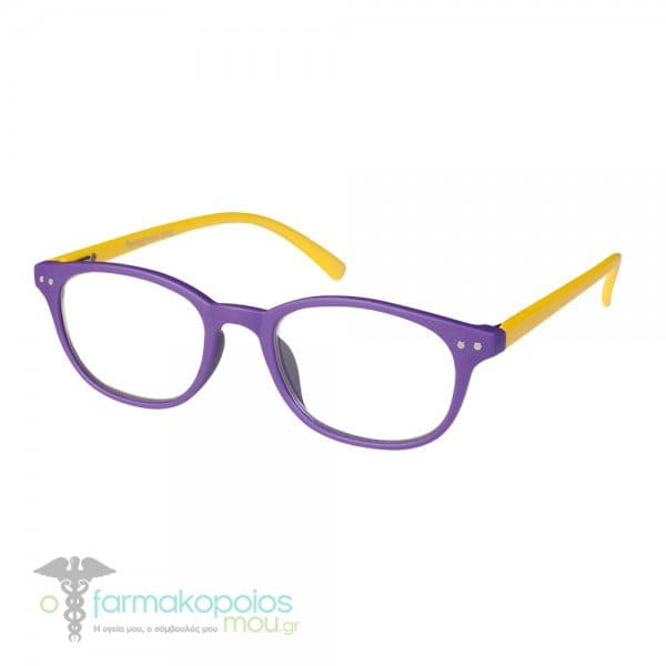 Vitorgan EyeLead Ε155 Unisex Γυαλιά Πρεσβυωπίας Κοκάλινα σε Μωβ Κίτρινο  Χρώμα 419cd3801c0