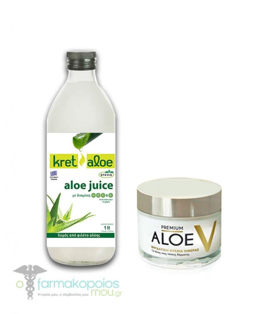 843c02752a Kretaloe Aloe Juice Χυμός Αλόης με βιταμίνες A